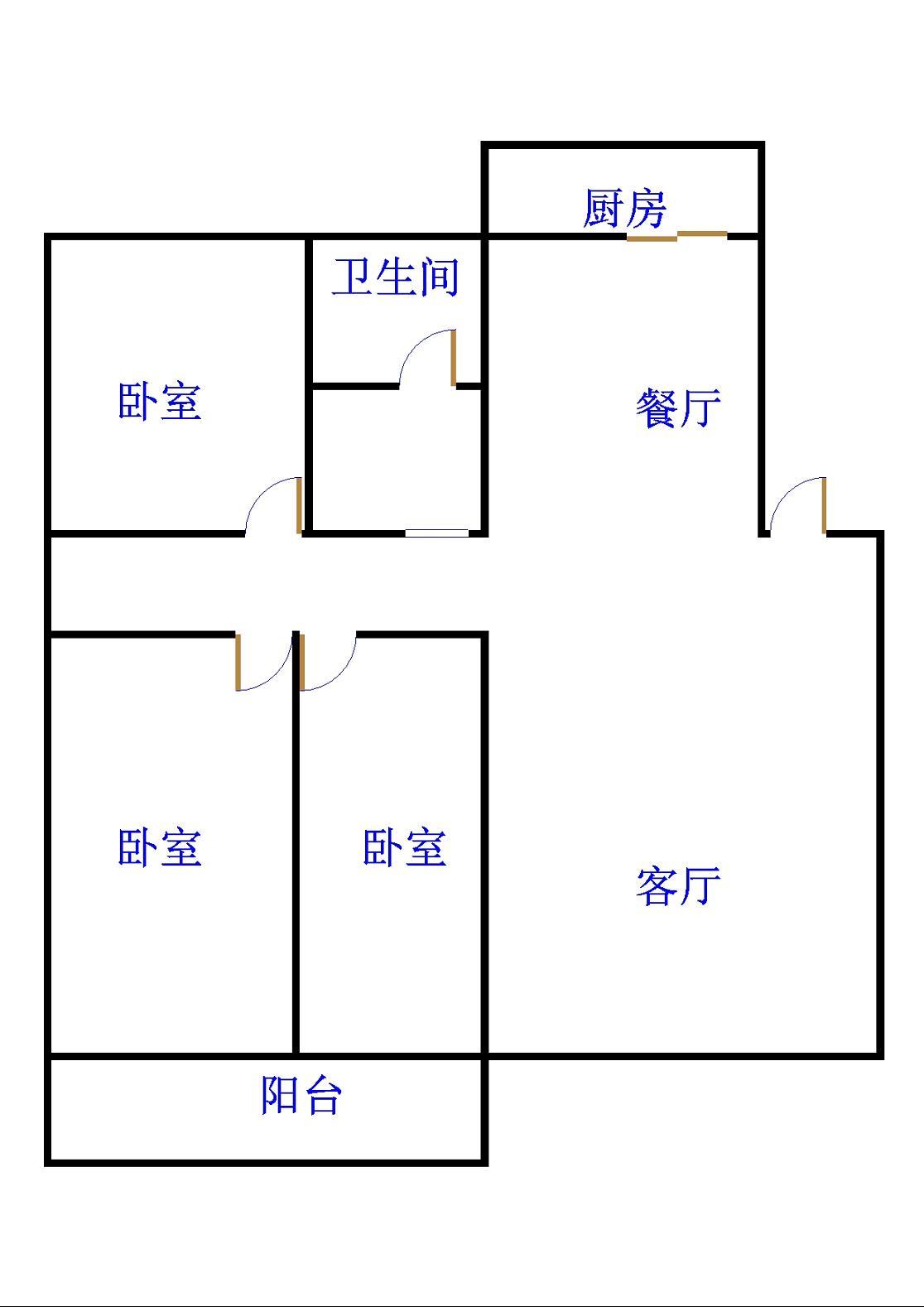 皇明宿舍小区 3室2厅 5楼