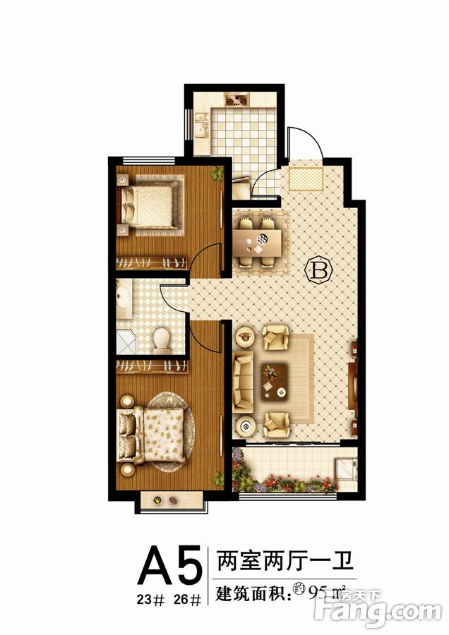 嘉城盛世 2室2厅 2楼
