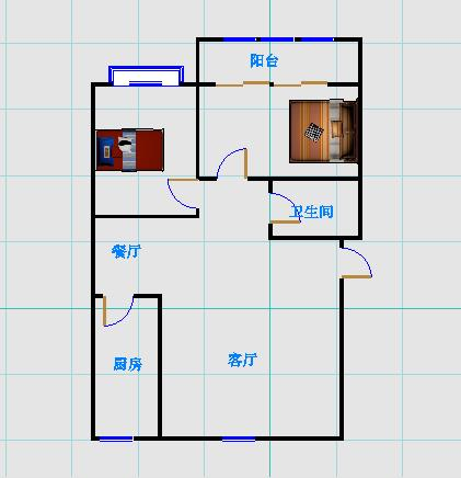 丹若园 2室2厅  简装 135万