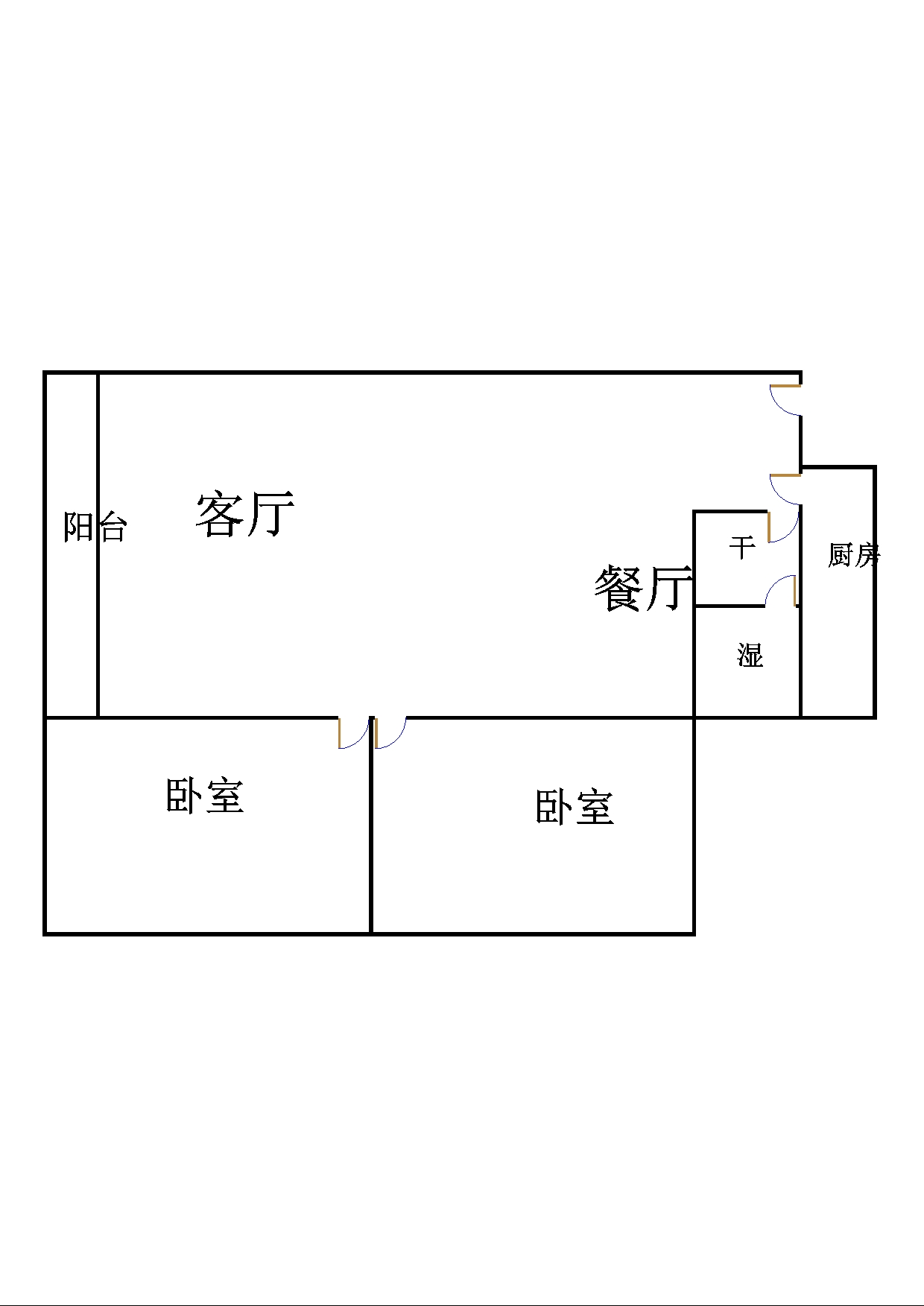 万豪公馆 2室2厅 19楼