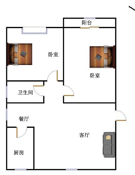 新湖家园 2室1厅  简装 110万