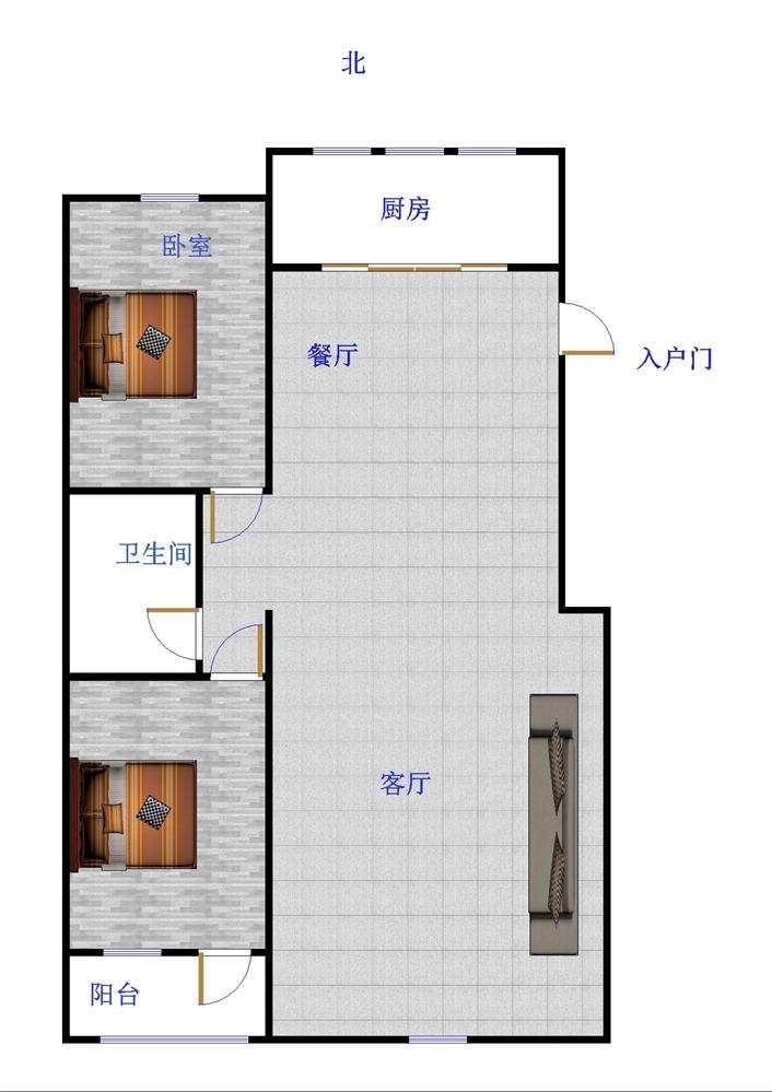 嘉诚景园小区 2室2厅 6楼