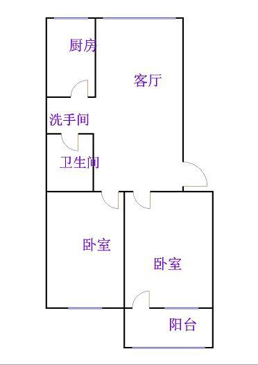 天华小区 2室1厅 5楼