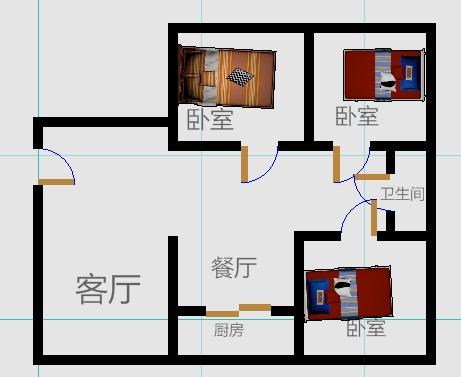嘉城盛世 3室2厅  精装 140万