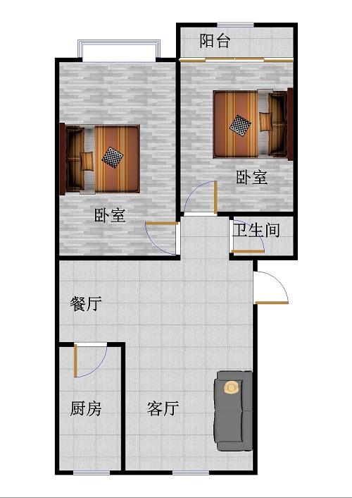西长新村 2室2厅  简装 28万