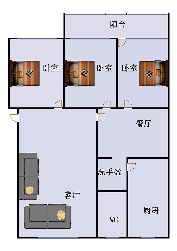 青龙潭小区 3室2厅  简装 154.7万