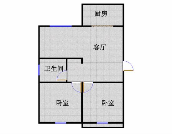 中泰尚居 2室1厅 双证齐全 精装 135万