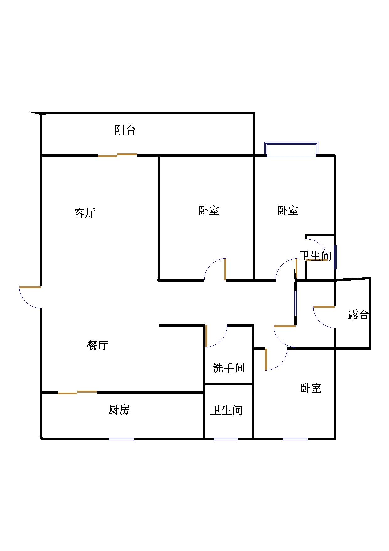 贵都花园 3室2厅 4楼