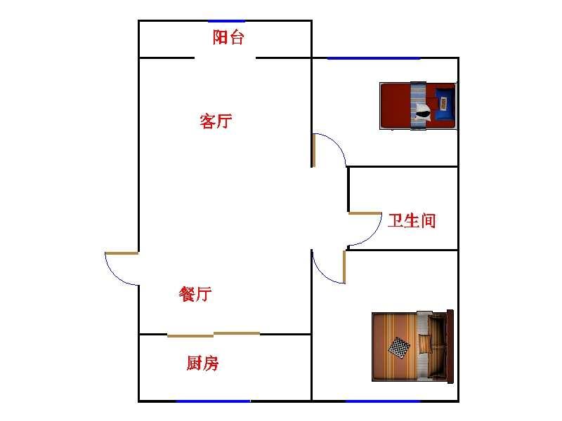 新湖家园 2室2厅 双证齐全 简装 146万