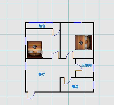岔河小区 2室1厅 过五年 精装 85万