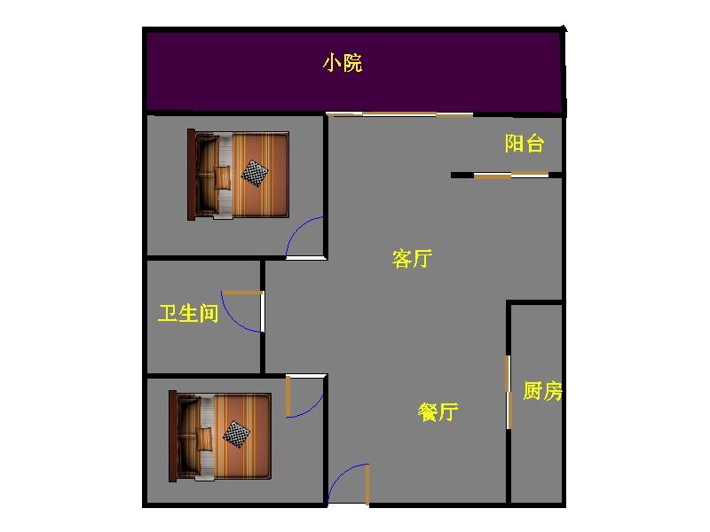 尚城国际 2室2厅  精装 100万