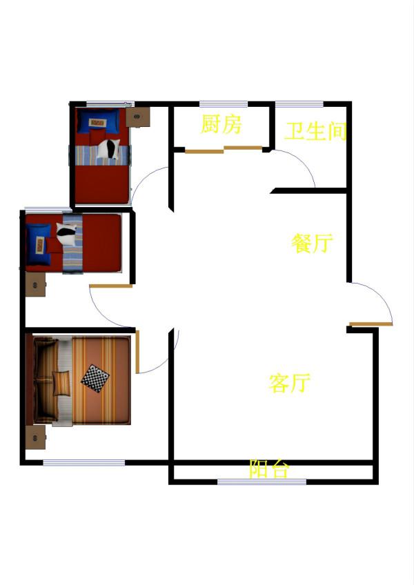高地世纪城 3室2厅 双证齐全 简装 100万