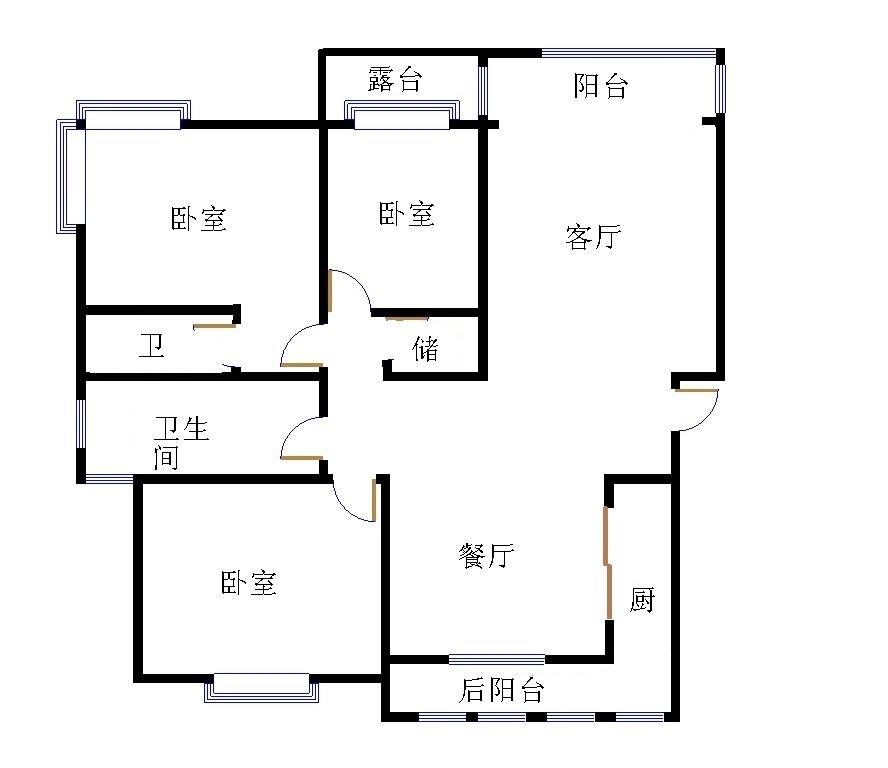 新城市花园小区 3室2厅  精装 168万