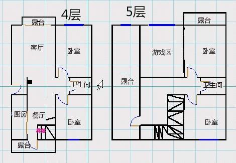 德百玫瑰园 4室2厅 4楼