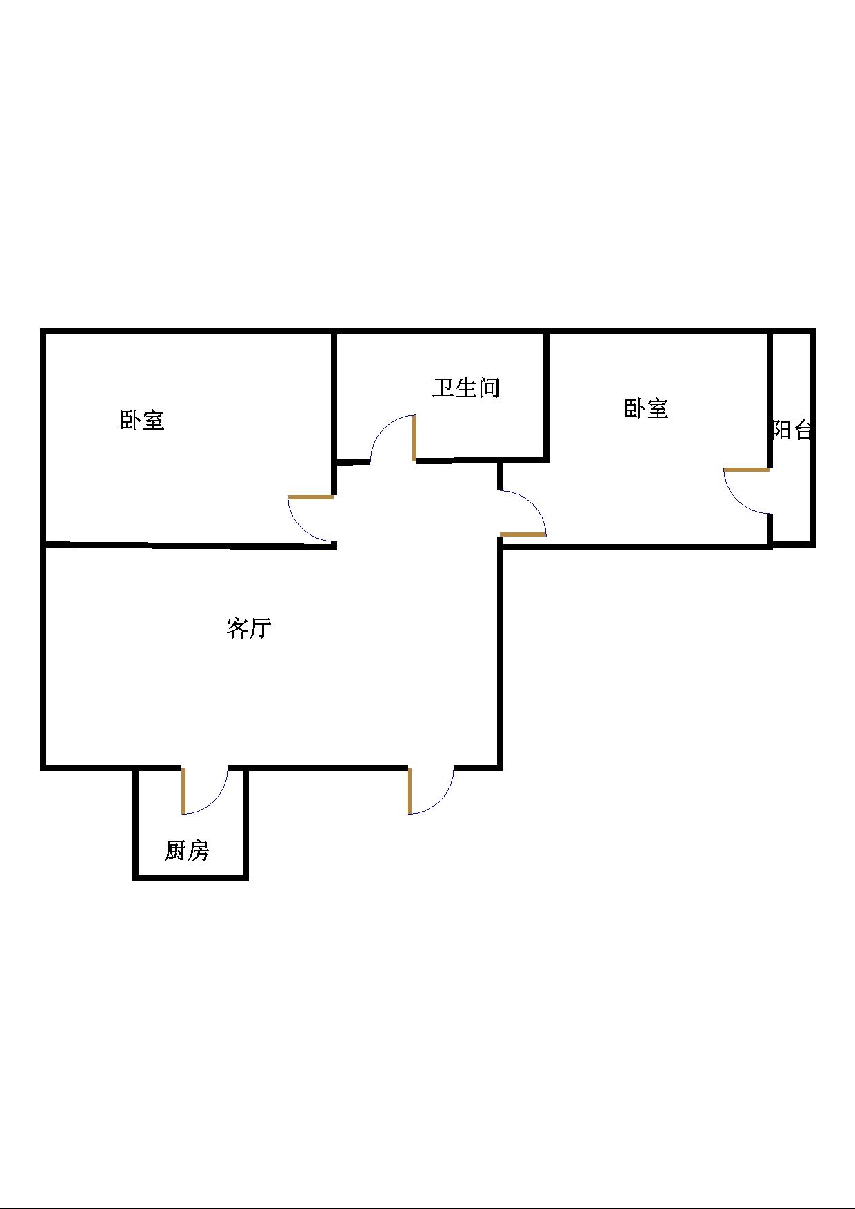 南苑花城 2室1厅  简装 80万