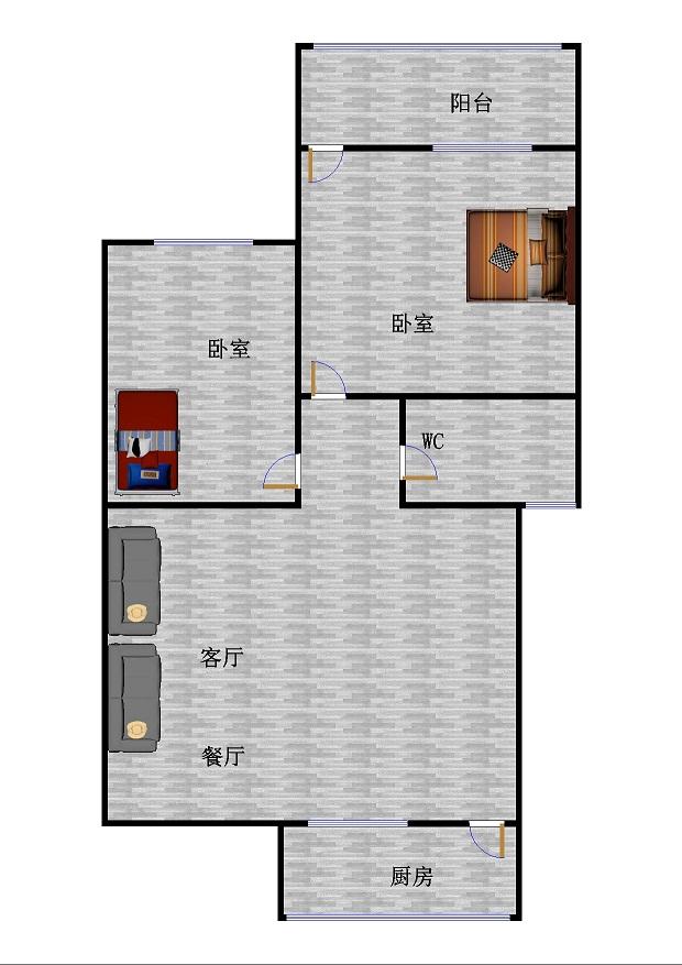 北园小区 2室1厅 双证齐全过五年 简装 75万