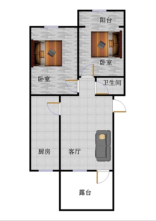 乾城安然园 2室1厅  简装 28万