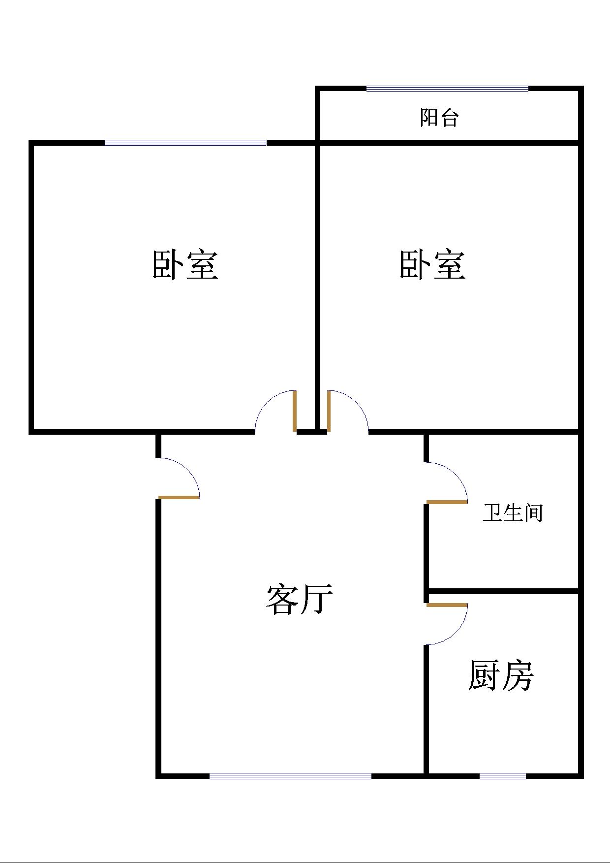 湘江小区北区 2室1厅  简装 75万