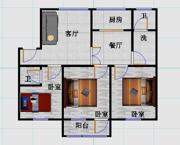 东方家园 4室2厅 双证齐全 简装 300万