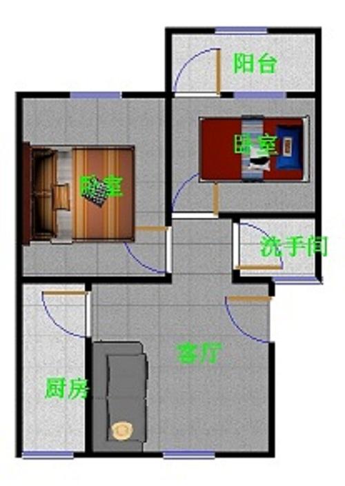 金卉小区 2室2厅 过五年 简装 70万