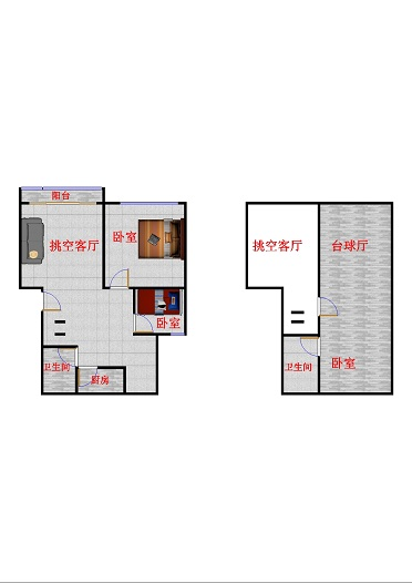 高地世纪城 4室2厅 双证齐全 简装 132万