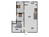 红星美凯龙国际广场 2室1厅 23楼