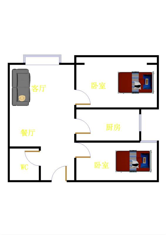 红星美凯龙国际广场 2室1厅 30楼