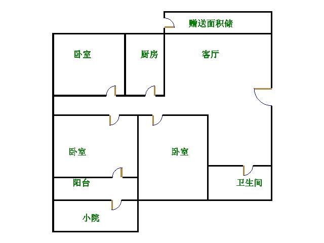 尚城国际 3室2厅 双证齐全 简装 110万