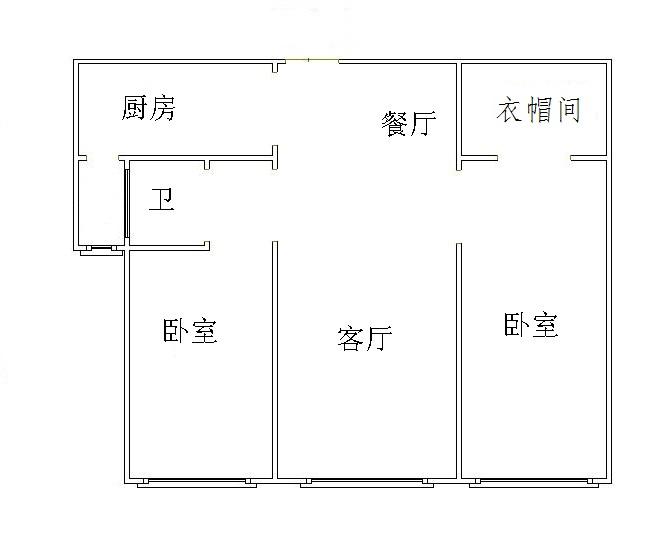 康博公馆 2室2厅  简装 135.5万