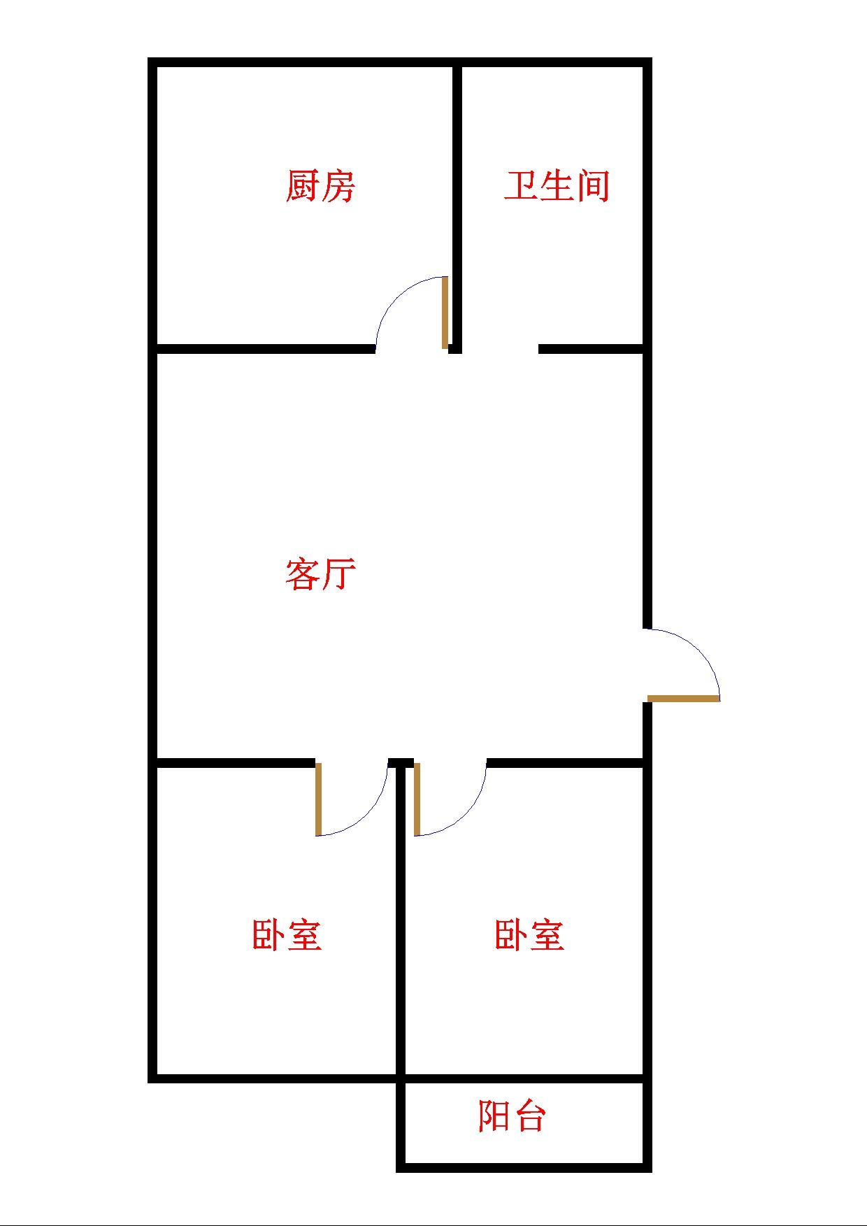 北园小区 2室1厅 6楼