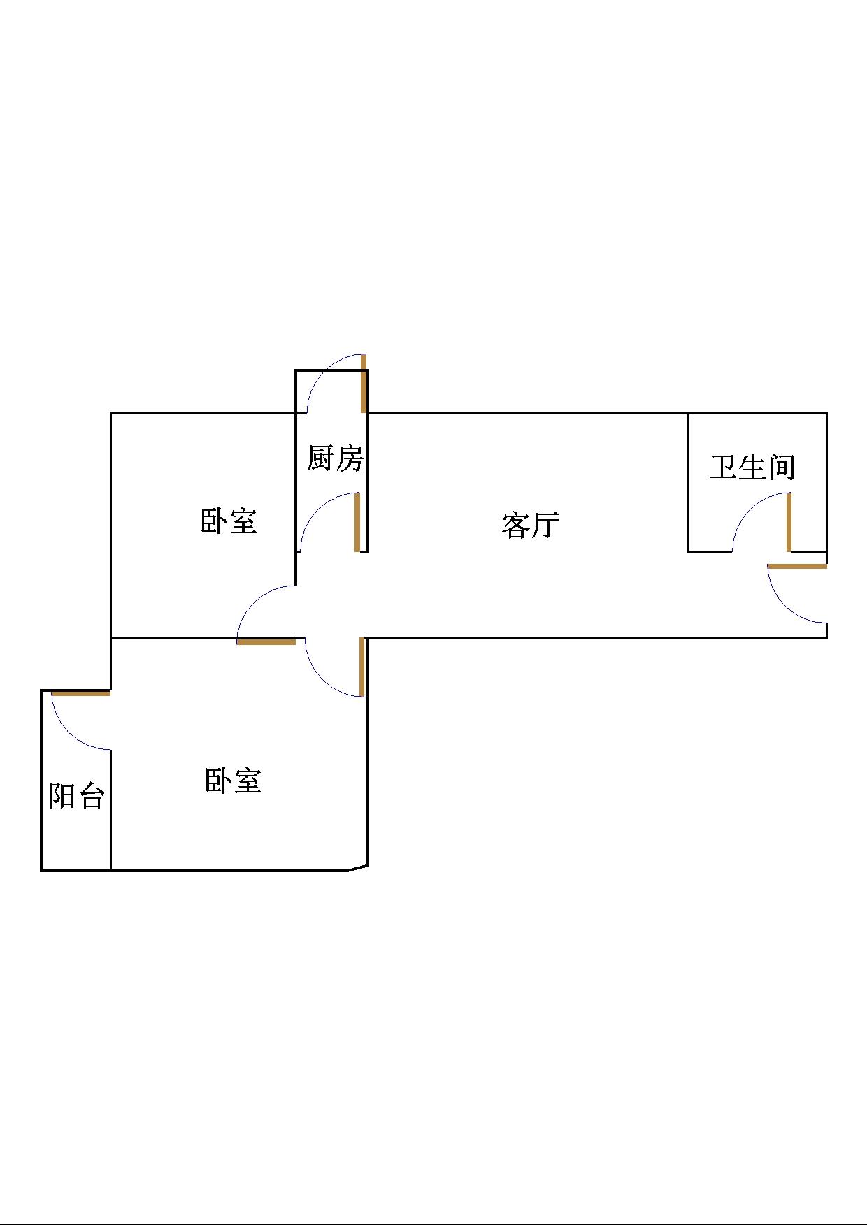 晶峰宿舍 2室2厅  简装 70万