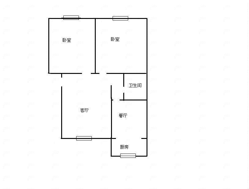 棉麻宿舍 2室1厅  精装 75万