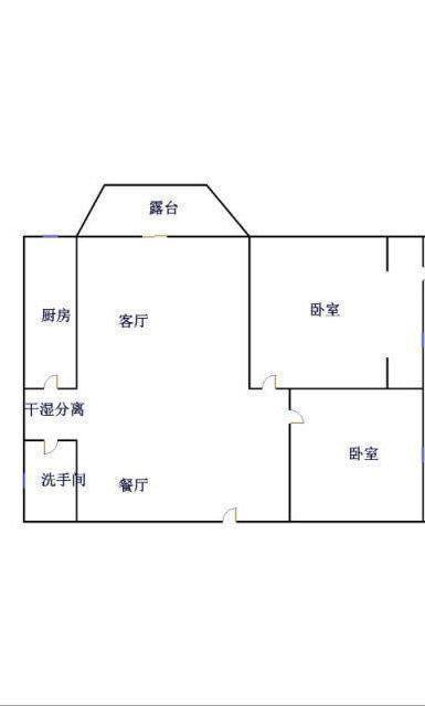 龙溪香岸 2室2厅  精装 90万