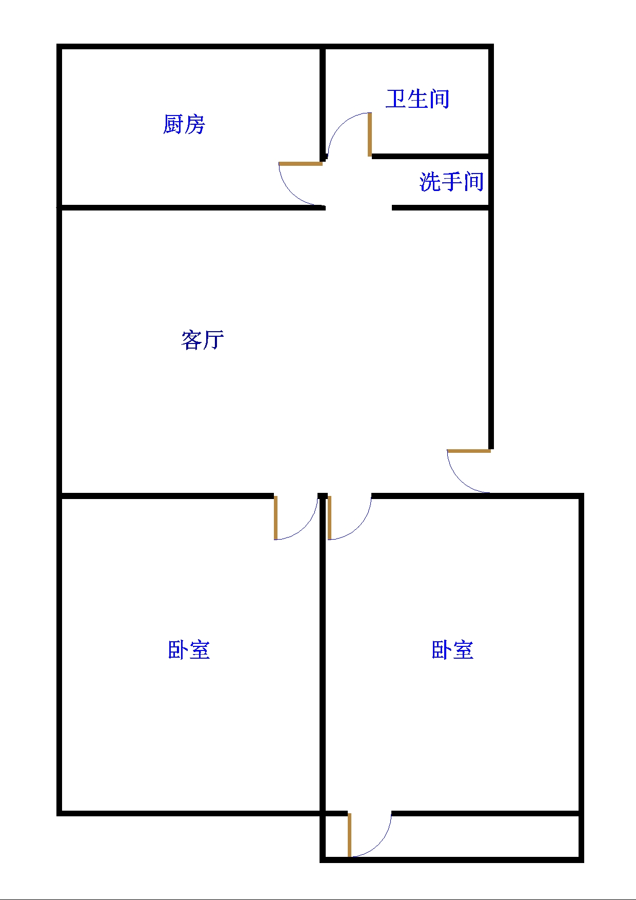 星河湾 2室1厅 6楼