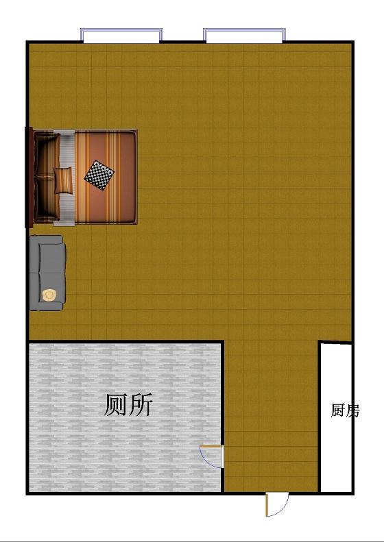 万达广场公寓 1室1厅 15楼