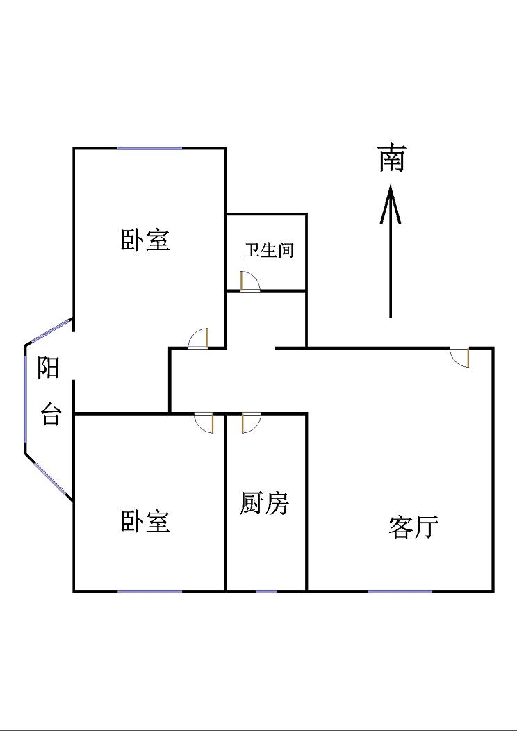 东方御越庄园 2室2厅  简装 81万