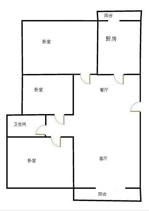 唐人中心 3室2厅 23楼