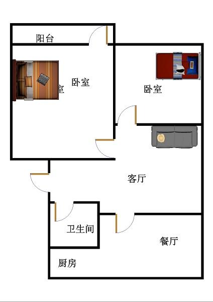 机床厂宿舍东区 2室2厅 双证齐全过五年 简装 37万