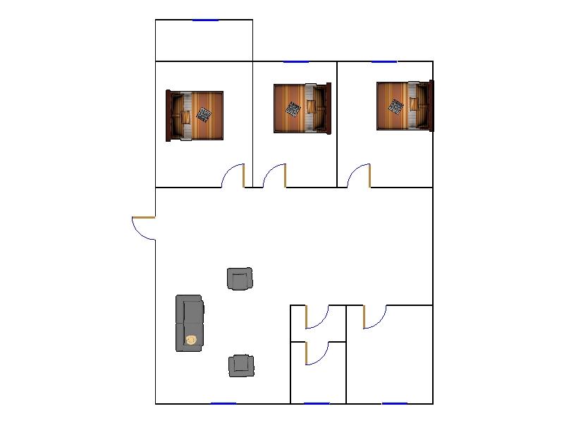 新四合小区 3室2厅  简装 66万