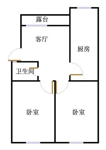 南龙国际花园 2室1厅 7楼