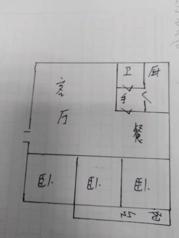 水文队宿舍 3室2厅 6楼
