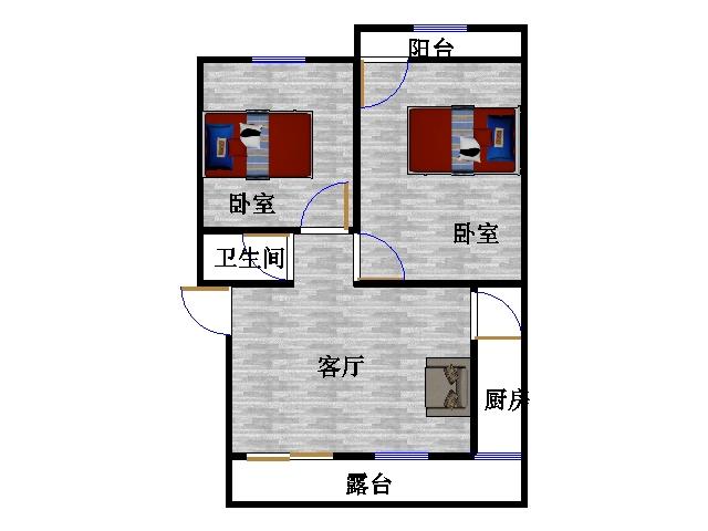 肖何庄小区 2室1厅 7楼