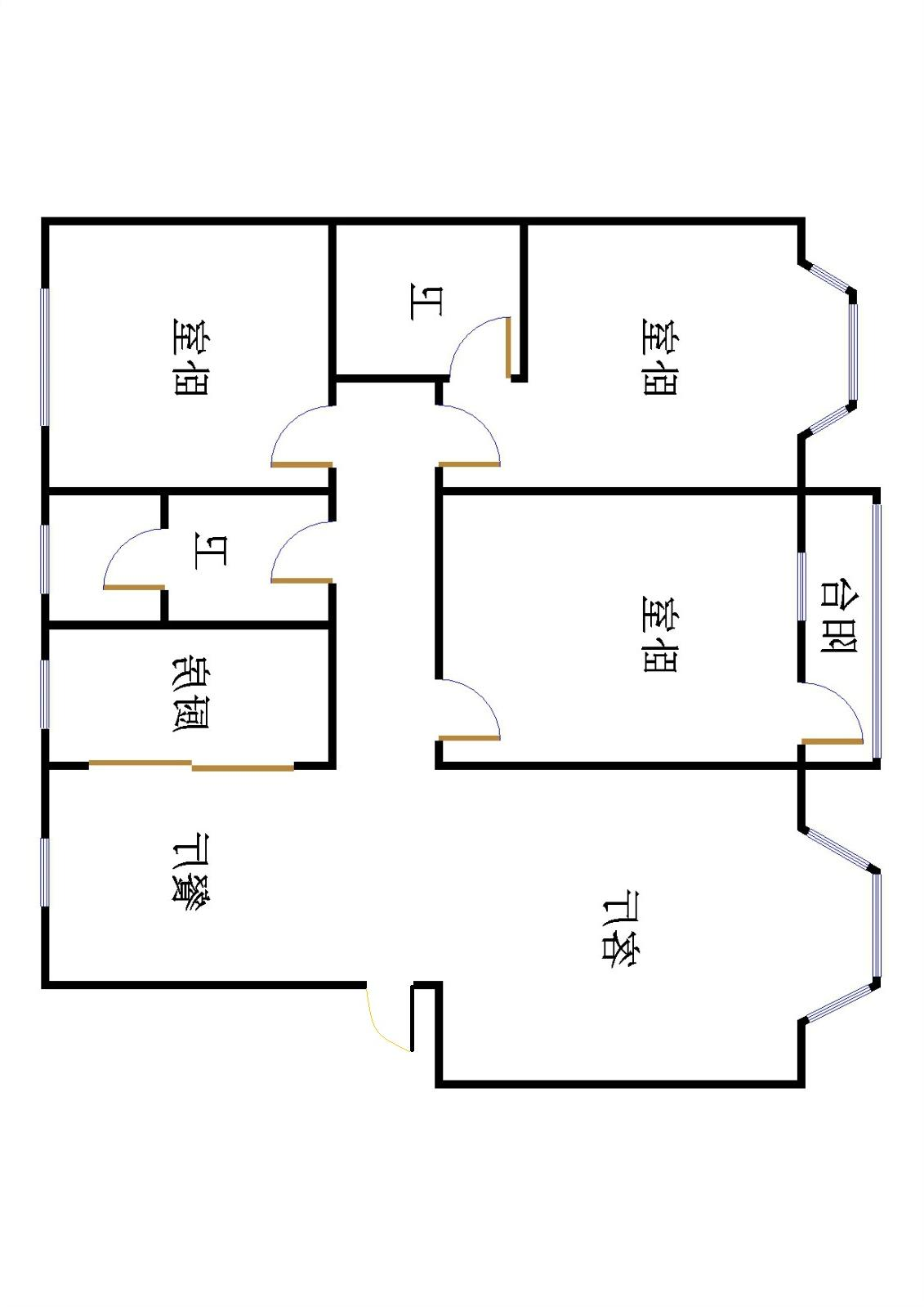 新城市花园小区 2室2厅  精装 132万