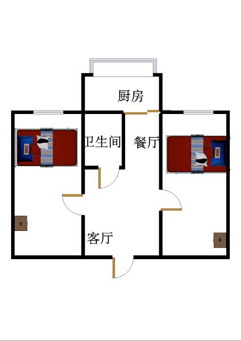 基础局宿舍 2室2厅 双证齐全 简装 36万
