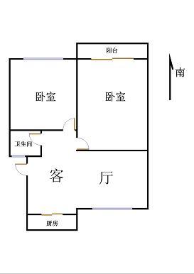 新城市花园小区 2室2厅 5楼