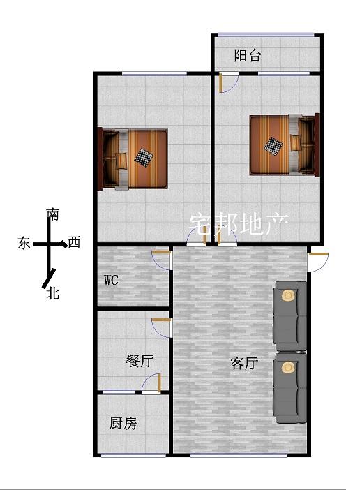 中泰尚居 2室2厅  简装 120万