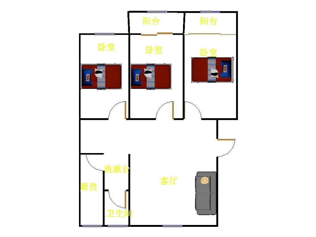 乾城尊府 3室2厅  精装 110万