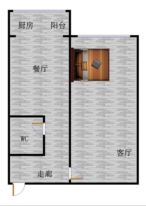 天宝嘉园小区 1室1厅 2楼