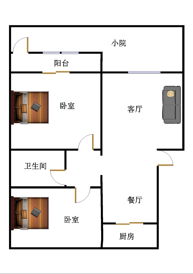 嘉御园 2室2厅 双证齐全过五年 简装 123万