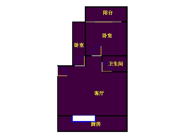 南营小区 2室2厅  精装 75万